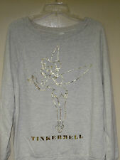 Disney Gray ( Tinkerbell Vintage Picture in Gold Foil ) Sweatshirt