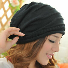 Winter Warm Unisex Women Men Knit Baggy Beret Hat  Oversized Ski Wool Cap Hat 12