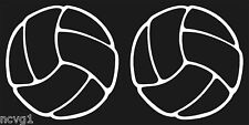 Pair of VOLLEYBALL Sticker/Decal volley ball