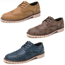 Mens Dress/Formal/Casual Flat Oxfords Shoes Lace Up Faux Leather Office Brogues