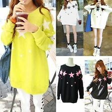 Star Pattern Women's Maternity Tops Batwing Dolman Shirts Casual Pregnant Tops S
