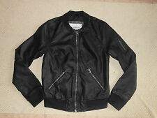 NEW Women's Abercrombie & Fitch AF  faux leather bomber jacket S, M, L  $140