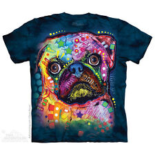 Russo Pug T-Shirt by The Mountain. Big Face Dog Pet Sizes S-5XL NEW