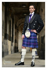 COMPLETE 14PC 'PRINCE CHARLIE' SCOTTISH KILT PACKAGE - 10+ TARTANS - CHEST 40""