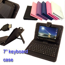 PU LEATHER KEYBOARD COVER CASE STAND FOR LINX 7 TABLET