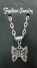 "20"" or 24"" Inch Chain Necklace & Butterfly Pendant Beautiful Charm Gift Sovenir"