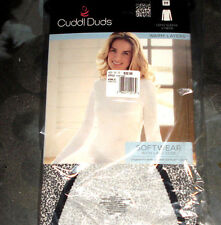 CUDDL DUDS SOFTWEAR WITH LACE EDGE WHITE/BLACK TOPS STYLE CD8512335