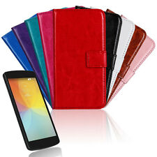 PU Leather Wallet Case Cover Protector For LG Optimus F60 MS395 D390 D392 D390N