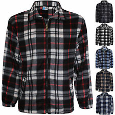 NEW MENS LUMBER JACK WORK FLANNEL SHIRT JACKET CHECK TOP WINTER WARM SIZE M-4XL
