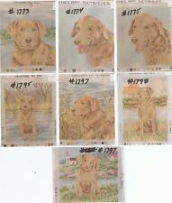 Chesapeake Bay Retriever ~ 7 Needlepoint  Canvas ~ Designed & Painted Lindy Tilp