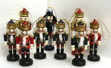 Christmas Tree Decoration Nutcracker Ornaments - Wooden - Soldier - King - NEW