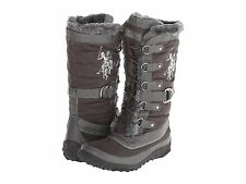 U.S. Polo Assassin boots for Women ankle polo winter shoe grey fur boot size NEW