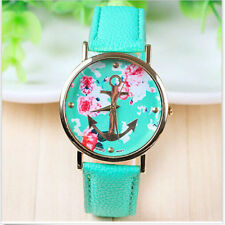 Hot ! Fashion Leather Anchor GENEVA Watch For Women Dress Watch Quartz Watch New