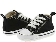 Converse crib All Star Black Baby Infant 8J231 Canvas brand new size 1-2-3-4