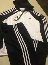 M67641 ADIDAS YOUNG KNIT SUIT Womens Tracksuit NWT White/black