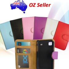 PREMIUM QUALITY LEATHER WALLET BOOK COVER CASE WITH CARD POUCH NOKIA HTC MODELS
