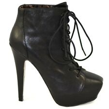 Betsey Johnson Steve Madden TIPPS Black Laced Leather Boots
