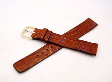 Hadley Roma Genuine Teju Lizard, Ultra Thin Peanut Brown Band Strap