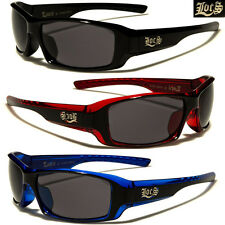LOCS Original Gangsta Hardcore Shades Sport Men Biker Dark Black Lens Sunglasses