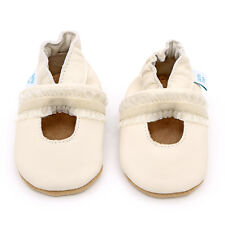 Dotty Fish Soft Leather Baby Shoes - Cream Christening - 0-6, 6-12, 12-18 months