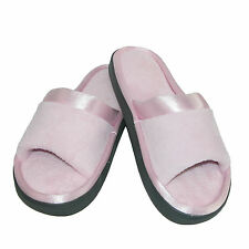New totes ISOTONER Womens Microterry with Satin Trim Open Toe Slipper