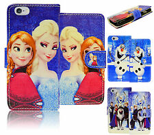 Disney Frozen PU Leather Wallet Flip Card Slot Case Cover For Apple iPod Touch 5