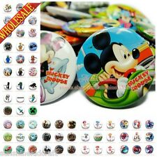 18pcs Elsa/Minions/Hero/Mickey Tin Buttons pins badges,30MM,Round Brooch Badge