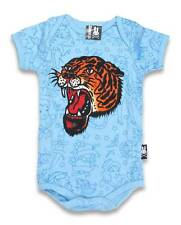 Six Bunnies Tiger Tattoo Blue Punk Rock Baby Rockabilly Boy Bodysuit Clothes