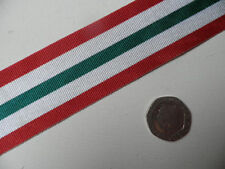 Italy Star, WWII Medal,  Replacement Ribbon, Full Size [32mm]. Free Postage.
