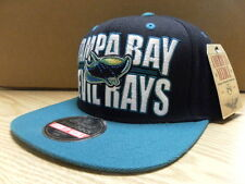 COOPERSTOWN TAMPA BAY DEVIL RAYS SNAPBACK HAT*BLACK*ONE SIZE *BARGAIN BUZZ PRICE