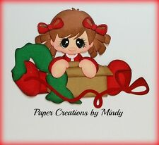 Craftecafe Mindy Christmas girl premade paper piecing for scrapbook page album