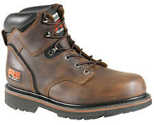"""Mens Timberland PRO 33046 Pit Boss Soft Toe Work Boot 6"""" Brown (D, M)"""