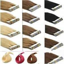 40pcs/20pcs 12-24inch Remy A/AAA Tape In Weft 100% Real Human Hair Extensions