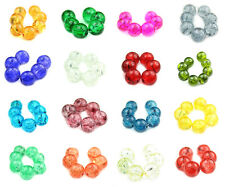 150pc Crackle Glass 6mm Round Jewely Making Beads - Awesome choice of colors