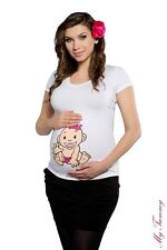 Maternity clothes t-shirts funny tops Pregnant blouses t shirt BABY GIRL size XL