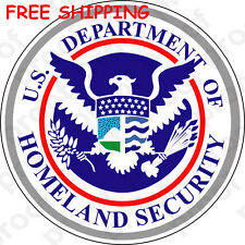 FREE SHIPPING UNITED STATES DEPT OF HOMELAND SECURITY STICKER MAGNET BANNER