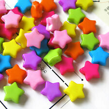 Acrylic Star Beads, Mix Colors