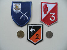 Irish Army, IDF. 1st, 2nd + 3rd Infantry Battalion Badges. 3 types, New.