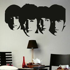 Beatles Wall Sticker! John Lennon Art Decor / Ringo Boy Band Wall Transfer nic1