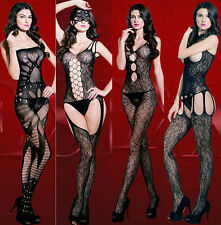 Super Sexy Bodysuit Cute Body Stockings Fish Net Lingerie Silk Babydoll Dress