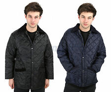 MENS COUNTRY WEAR DIAMOND QUILTED PADDED HUNTER STYLE JACKET COAT SIZES XS-XL