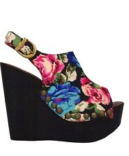 Jeffrey Campbell Snick Fab Blue Purple Floral Platform Shoes Szs 7 8 & 10 NEW