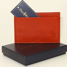 Ralph Lauren Wallet/Card Holder NEW small Men`s Leather Card Holder Great Value!