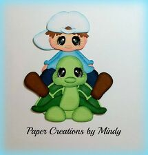 Craftecafe Mindy Boy turtle outdoors  premade paper piecing scrapbook page album