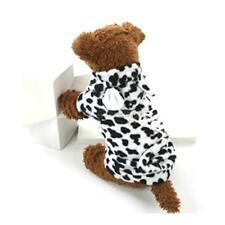 Sweet Comforty Soft Fleece Cow Costume Hoodie Coat Outfit For Puppy Pet Dog Cat