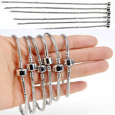 10pcs Wholesale Lots Fashion New Charms Snake Chain Bracelet Plain Clasp Silver
