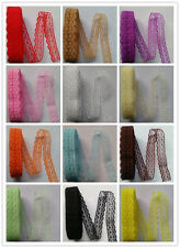 Beautiful! Unilateral hand embroidered 10 yard12 color lace ribbon