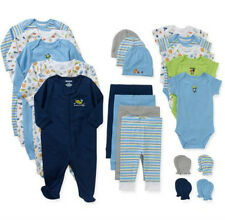Newborn Baby Boys Clothes 21 Piece Set Hat Onesies 0-3mos 3-6mos Infant Outfit