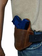 New Barsony Brown Leather Pancake Belt Slide Gun Holster Taurus Comp 9mm 40 45