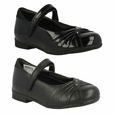 SALE DOLLY SHY JUNIOR GIRLS CLARKS DIAMANTE RIPTAPE MARY JANE SCHOOL SHOES